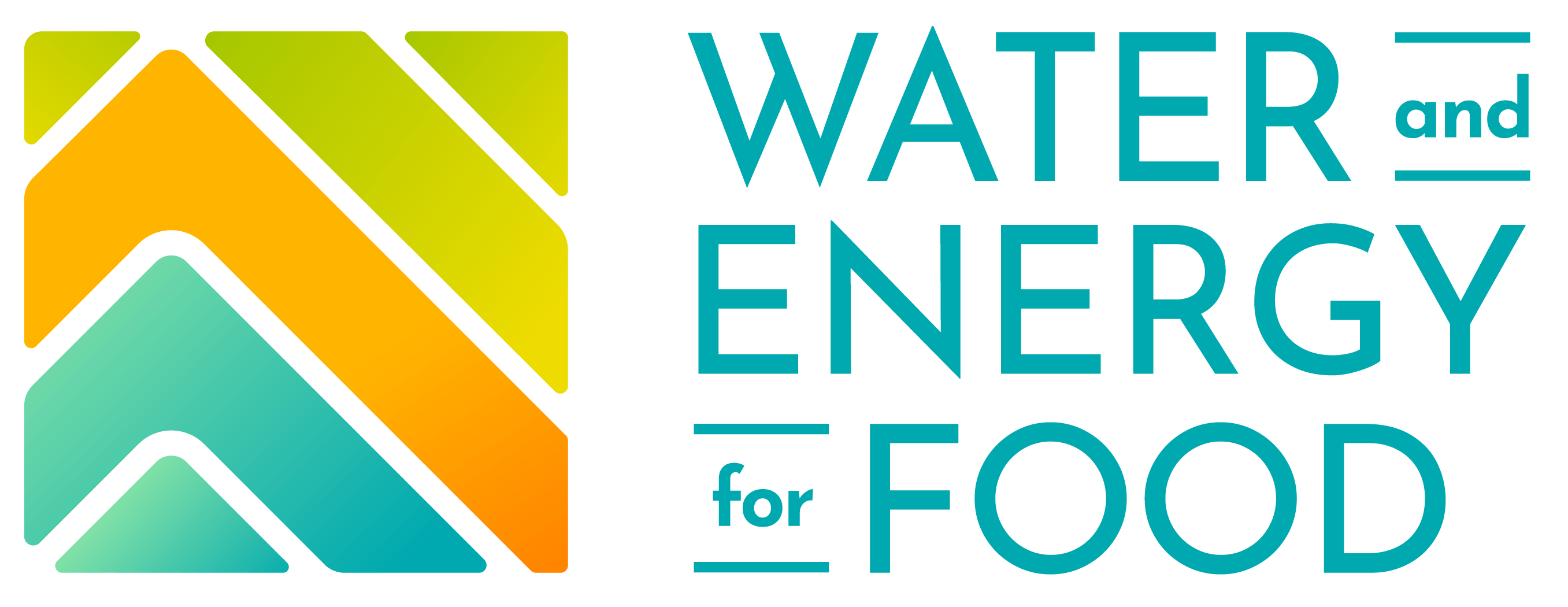 color version of the Water and Energy for Food logo