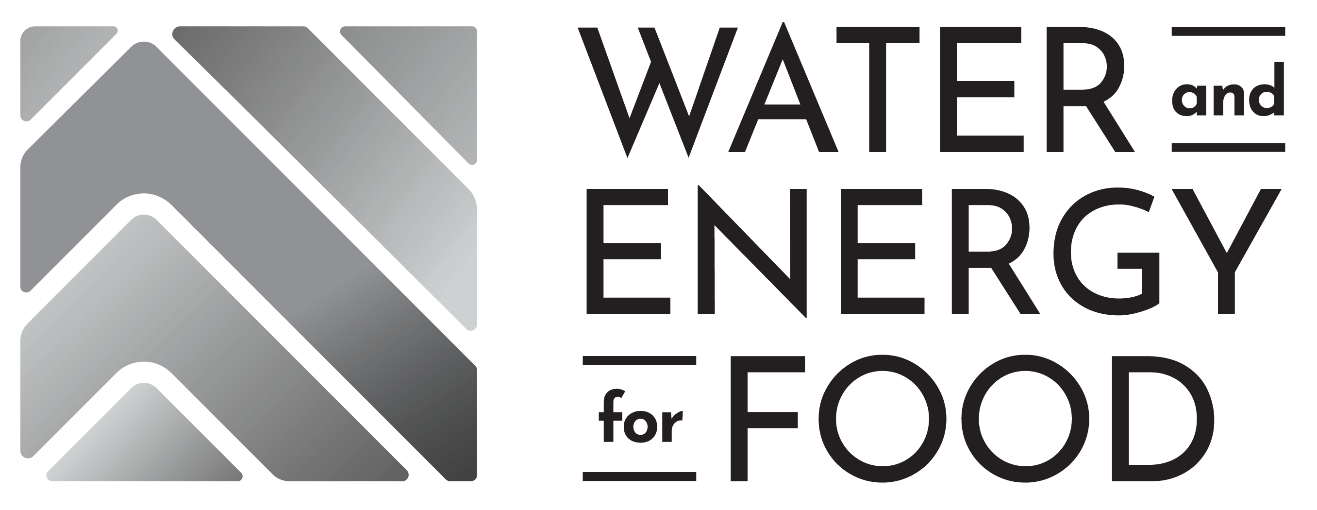 gray scale Water and Energy for Food logo