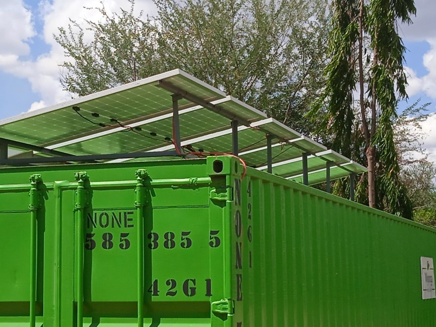 Solar Panels on Container